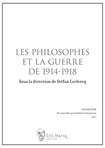 Les philosophes et la guerre de 1914-1918