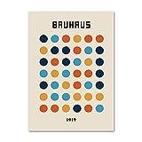 Carteles e impresiones de gráficos geométricos abstractos de la Bauhaus, cuadros de decoración de arte de pared nórdica, pinturas de lienzo sin marco A3 15x20cm