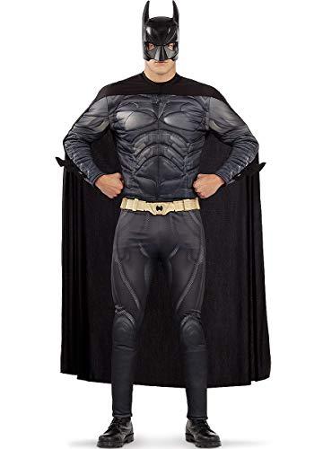 Funidelia | Disfraz de Batman Oficial para Hombre Talla 3XL Caballero Oscuro, Superhroes, DC Comics, Hombre Murcilago - Color: Negro - Licencia: 100% Oficial