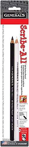 Scribe-All Pencils 2/Pkg, Black & White