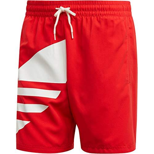adidas Big Trefoil SWM, Costume da Nuoto Uomo, Lush Red, M