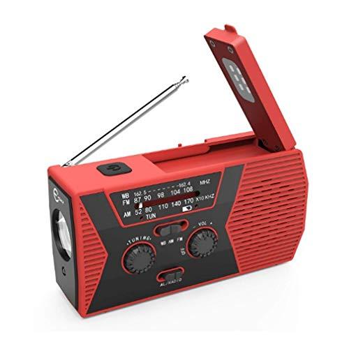 Radio multifunción, carga solar manual con linterna y luz de lectura, conector para auriculares, compatible con escucha personal, cómodo de usar en interiores y exteriores (color: 1)