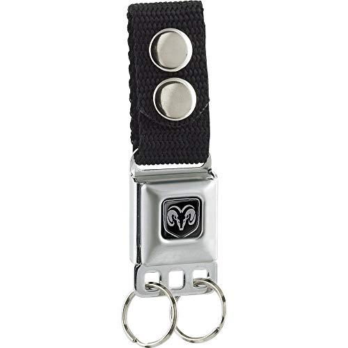 Buckle-Down Herren Keychain - Ram Head (NO Text) - Black Schlüsselanhänger, Mehrfarbig, Einheitsgröße