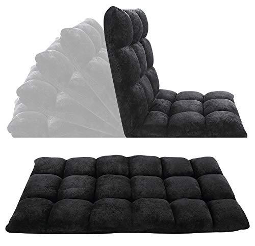Velago 191001 Floor Chair Folding Lazy Sofa, Black