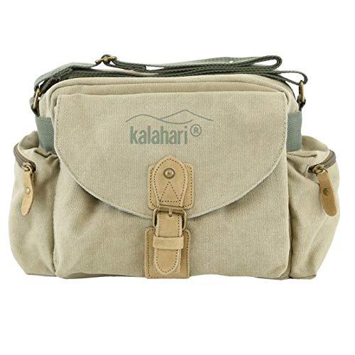 Kalahari Molopo K-41i Canvas Schultertasche für SLR-Kamera Khaki