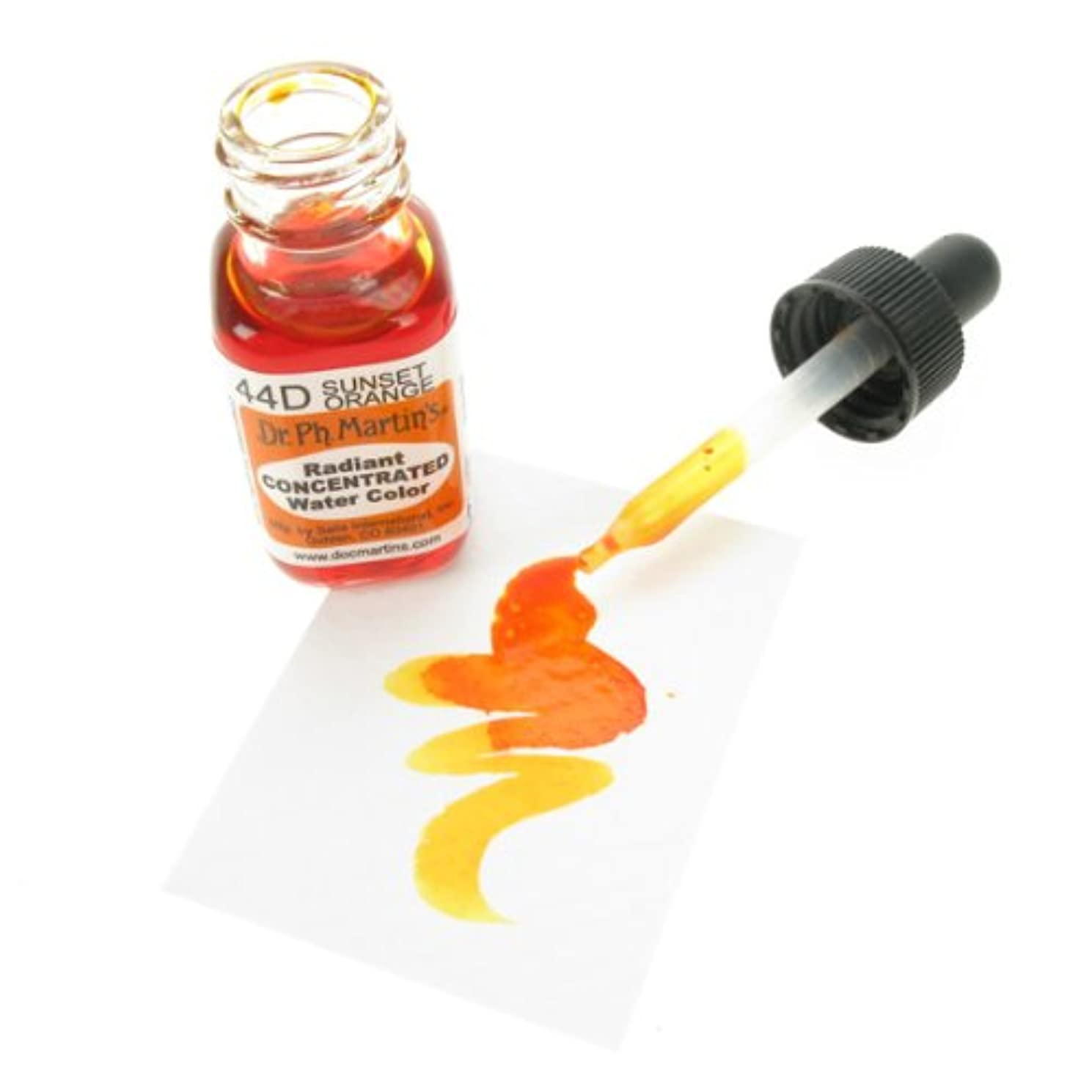 Dr. Ph. Martin's Radiant Concentrated Water Color, 0.5 oz, Sunset Orange (44D)