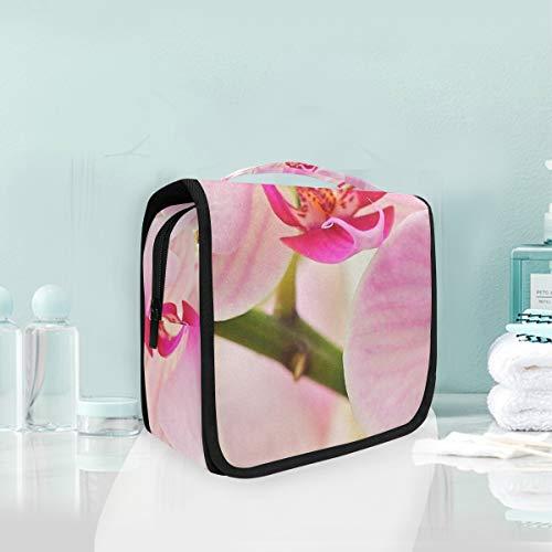 MONTOJ Grande trousse de toilette à suspendre Motif orchidées rose
