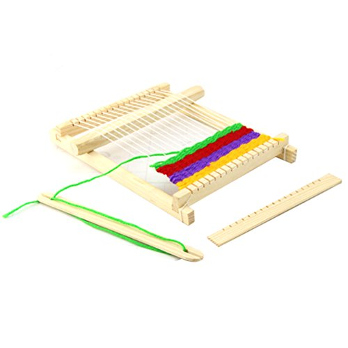 PIXNOR Métier à tisser en bois Métier à tisser jouet Enfants jouet