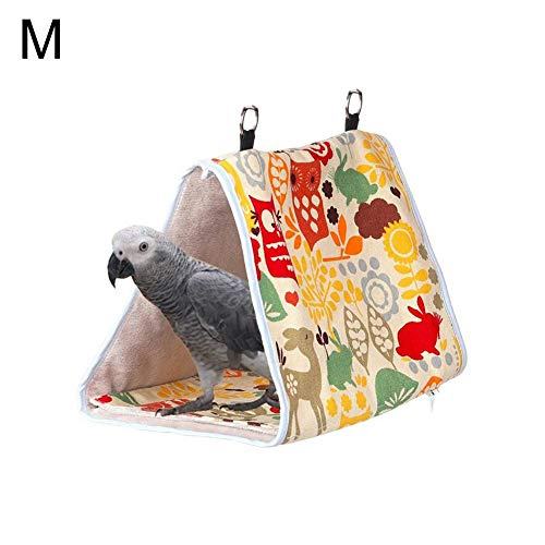 Urbenlife Vogelhuisje, om op te hangen, modern, pioenrozen-plaegeien-kleine hangmat-vogelnest-warme, sterke driehoekige vogel-hangende tent, knuffelhoed, levendig mooi en stevig Medium `