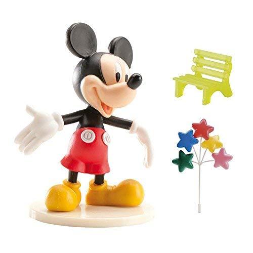 dekora 302011 Geburtstagskuchendekoration Mickey Mouse Größe 9 cm, Plastik, rot, 3 x 5 x 9 cm