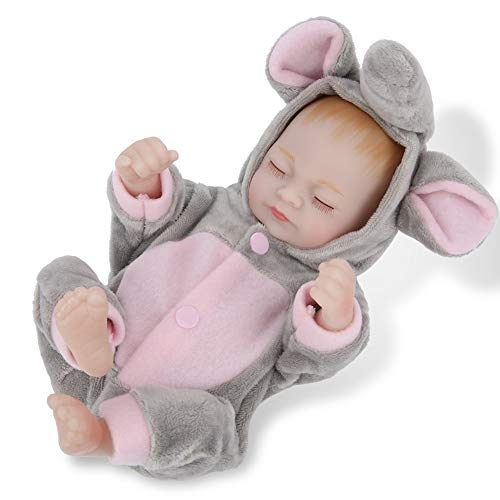 """Reborn Baby Doll, 11.5""""Realista Realista Suave Silicona Vinilo Altamente Simulado Cuerpo completo Encantadora Reborn Baby Doll para mayores de 3 años Regalos de cumpleaños/Navidad(1#)"""