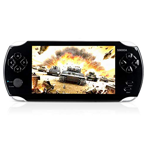 """MUS RUN Handheld Game Console, Portable Video Game Console 16GB 5 """"Screen 2500 Classic Games, Support / GBA / GBC / NES / BIN / SMC, Best Birthday and New Year Gifts for Kids……"""