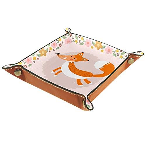 MUMIMI - Plato cuadrado de piel para mujer y niña, diseño de jirafa en el coche, regalo de cumpleaños para el día de la madre, piel sintética, color 3, 20.5x20.5cm