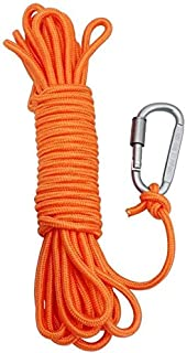 AITREASURE 32.8ft / 6 mm Floating Rope for Boat Water Tow Rope with Hooks Throwable Flotation Device Water Rescue Safety E...