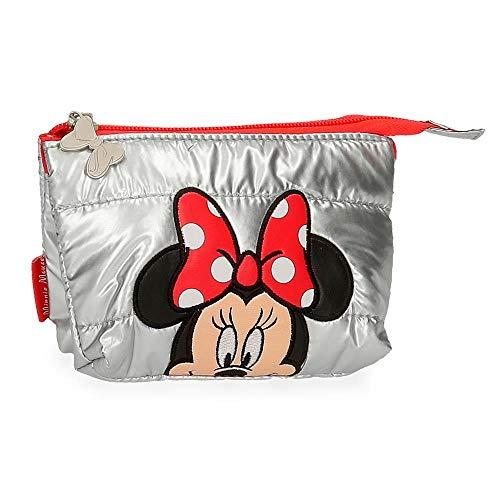 Disney Minnie My Pretty Bow Monedero Gris 14x10x3,5 cms Poliéster