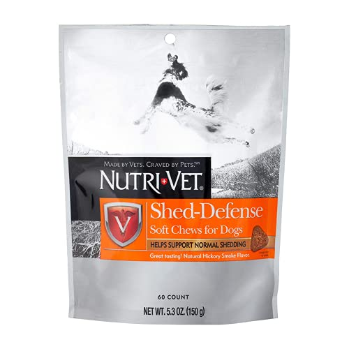 Nutri-Vet Shed Defense Soft Chews for Dogs | Supports Normal Shedding and Healthy Coat | 60 Soft Chews