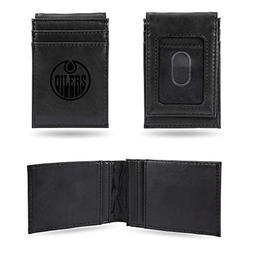 NHL Rico Industries  Laser Engraved Front Pocket Wallet, Edmonton Oilers