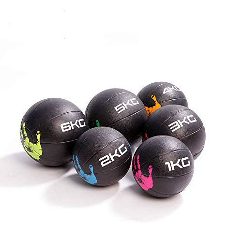 KACC Power Guidance - Slam Ball Balón Medicinal Antideslizante, Balón Medicinal de Goma Pro, Ideal para los Ejercicios de Functional Fitness - Pesos DE 1, 2, 3, 4, 5, 6 kg