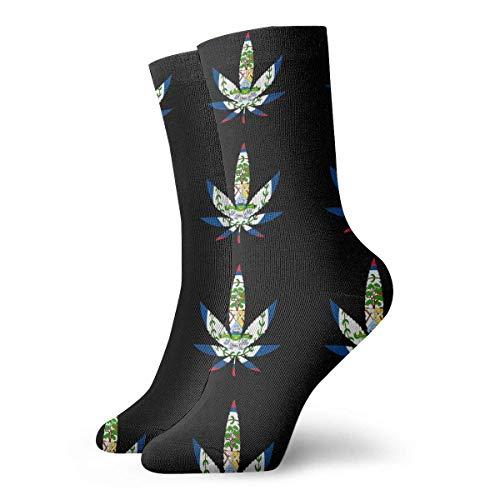 FETEAM Weed- Calcetines cortos con bandera de Belice Calcetines de vestir Calcetines deportivos