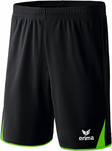erima Erwachsene Shorts 5-Cubes, Schwarz/Green, M, 615402