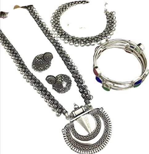 CRAFTING LOVE Un bonito juego de 2 collares con pendientes y brazaletes a juego (tamaño 2,6)