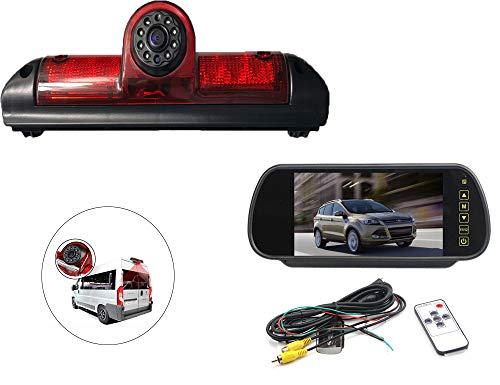 Vision de Nuit la Vue arrière imperméables IR Renforts troisième Frein lumière caméra pour Universal Cargo Camion + 7 Pouces HD inverser rétroviseur surveiller