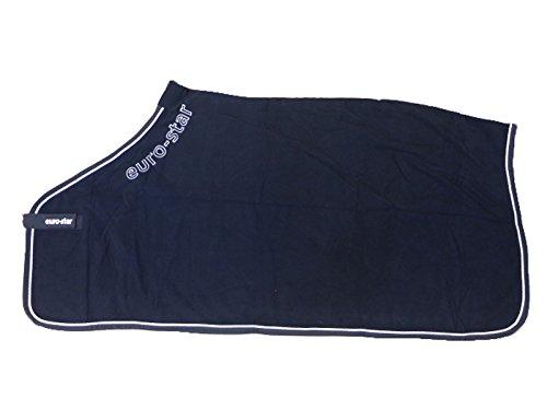 Pferdesport Euro-Star, Pure, Fleece Decke/Abschwitzdecke mit Kordel, Navy, S