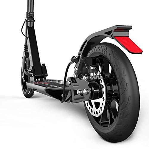 MOM Calcio da scooter per attività all'aperto, Pendolare pieghevole per adulti nero, Grandi ruote, Freno a disco, Città regolabile non elettrica ammortizzante, Capacità di carico 100 kg Giocattolo pe