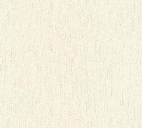 A.S. Création Vliestapete Luxury Walls Tapete Uni 10,05 m x 0,70 m beige creme Made in Germany 356246 3562-46