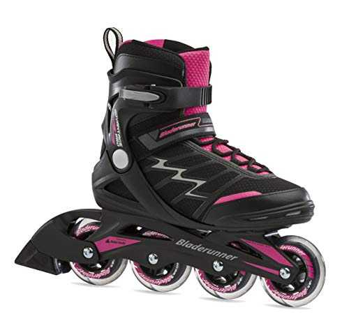 Bladerunner by Rollerblade Advantage Pro XT Women's Adult Fitness Inline Skate, Black and Pink, Inline Skates, 10