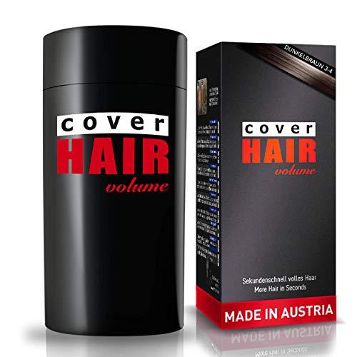 COVER HAIR Streuhaar, Schütthaar zur Haarverdichtung und Ansatzkaschierung in dunkelbraun, 30g