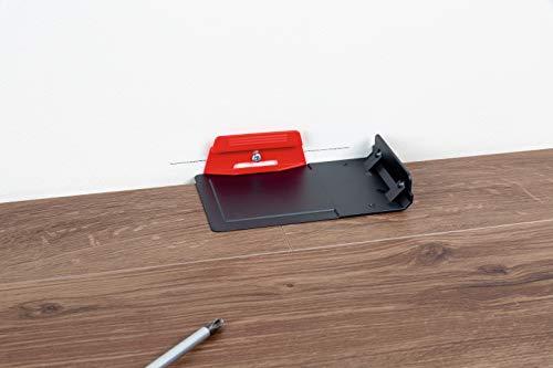 Parador Leistenclipse rot aus Kunststoff - Befestigungsclips zur Montage von Bodenleisten vom Typ SL 4/5/18 - Set mit 24 Stück