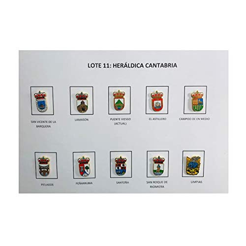 LOT 11 - Ranking TOP15 HERALDIC Be super welcome CANTABRIA SHIELDS