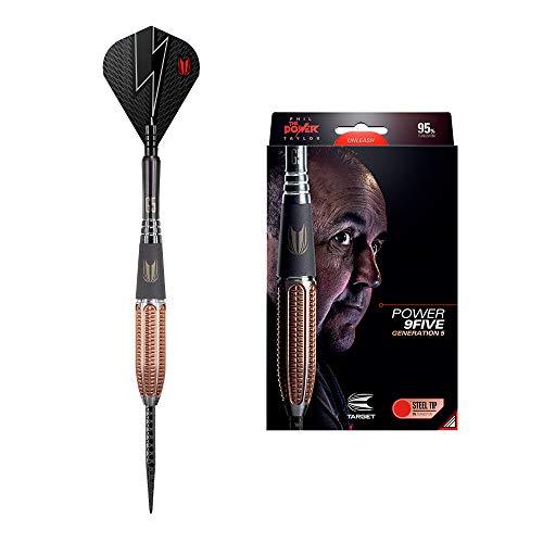 Target Darts Power 9ive G5 Dartpfeile mit Stahlspitze, 24 g