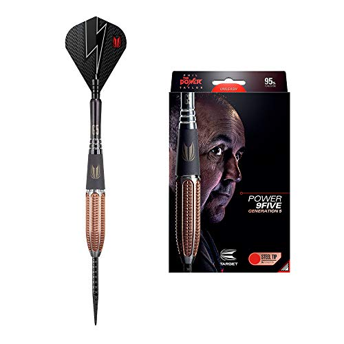 Target Darts Steel Tip Darts Power 9FIVE G5 24G-Dardos de Punta de Acero 2018, Generación 5, Medium