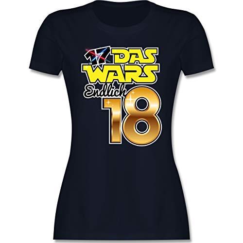 Geburtstagsgeschenk Geburtstag - 17 Das Wars Endlich 18 - M - Navy Blau - das Wars Tshirt 17 - L191 - Tailliertes Tshirt für Damen und Frauen T-Shirt