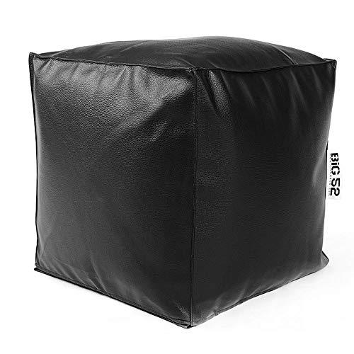 LiveDeco reposapiés Cube big52–Piel sintética Negro
