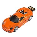 Baosity 64GB Creative Metal Orange Sports Car Model Fashion Mini USB Flash Drive Fashion Thumb Drive