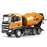 duturpo 1/50 Scale Metal Diecast Cement Mixer Toy Truck, Metal Construction Vehicles Trucks Model Toy for Boys Kids