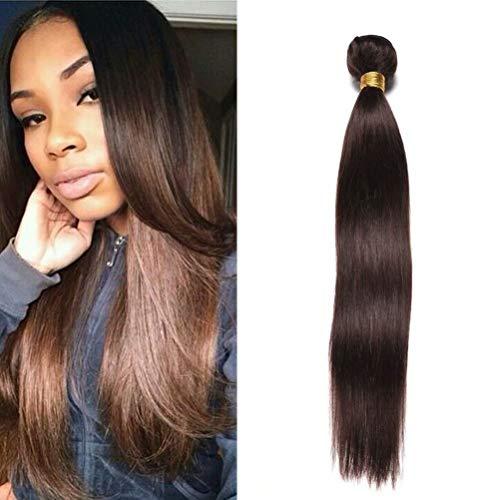 FEEL ME Peruvian Straight Hair Human Hair Bundles 100g/pc Peruvian Virgin Hair Weave 100% Unprocessed Virgin Human Hair Extensions Color 2 Dark Brown Peruvian Hair Bundles 10 Inch