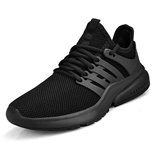Troadlop Women's Non Slip Sneakers Walking Black Shoes Slip On Woman Athletic Tennis Gym Air Cushion Lady Nurse Shoes Running Walking Light Weight Dance Easy Shoes Loafers Size 8