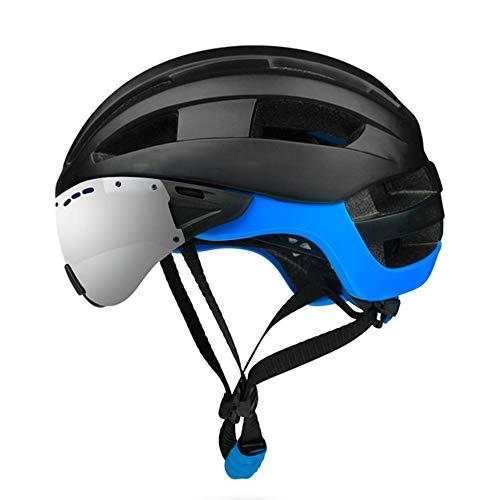 Casco De Caballo con Gafas - De Una Sola Pieza Desmontables Ajustables Casco, Los Hombres Y Mujeres De Ruta De Bicicleta De Montaña Montar El Equipo Al Aire Libre