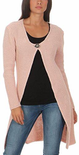 malito dames cardigan lang   Cardigan in grofgebreide look   Vest met wol   Mohair - Jas - Mantel 7020