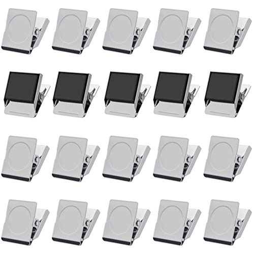 24pcs Metal Magnetic Clips  Refrigerator Whiteboard Wall Magnetic Memo Note Clip for House Office School  12 inch