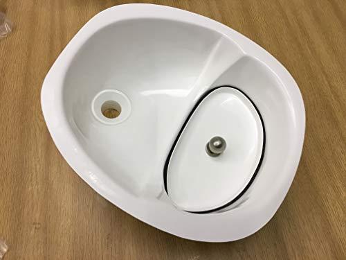 El separador de orina original con tapón de modestia a juego para inodoros de compost