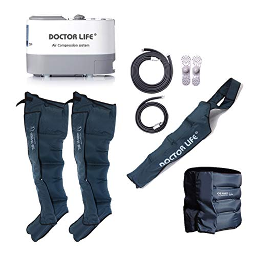 Recovery Compression System by DOCTOR LIFE : Compression Pump, Recovery Boots, Arm Sleeve, Waist Sleeve. (Boots Size : Large)