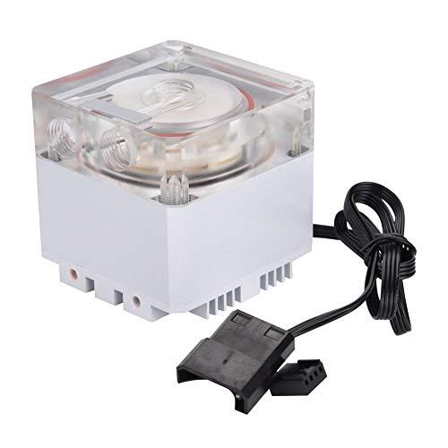 Richer-R 3000RPM Radiador de Enfriamiento para Ordenador,800L/H Refrigerador Bomba de de Agua 3.5m,Disipador de Calor para PC(Blanco)