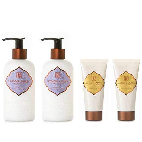 AKALIKO Lavender Cherish Body Lotion and Blooming Jasmine Hand Cream - Set B.