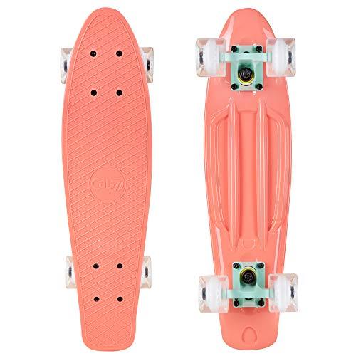 Cal 7 22.5' Complete Mini Cruiser Plastic Skateboard (Melrose)