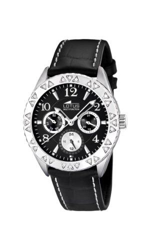 Lotus 15681/3 - Reloj de Mujer de Cuarzo, Correa de Piel Color Negro
